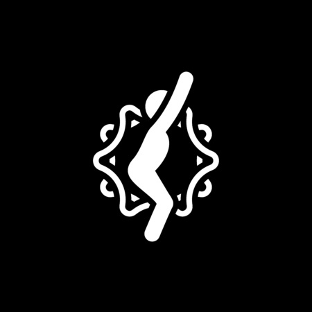 Yoga Chair Pose Icon. Flat Design Isolated Illustration.