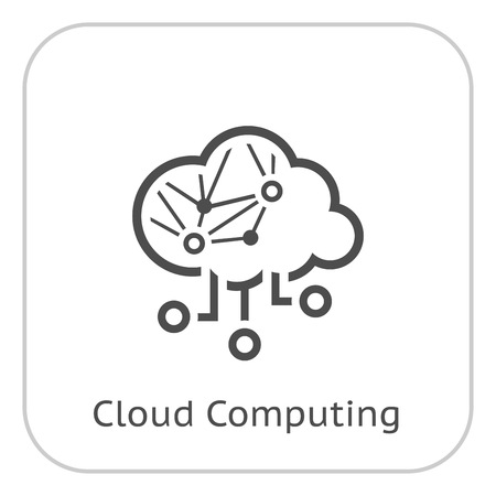 Simple Cloud Computing Vector Icon