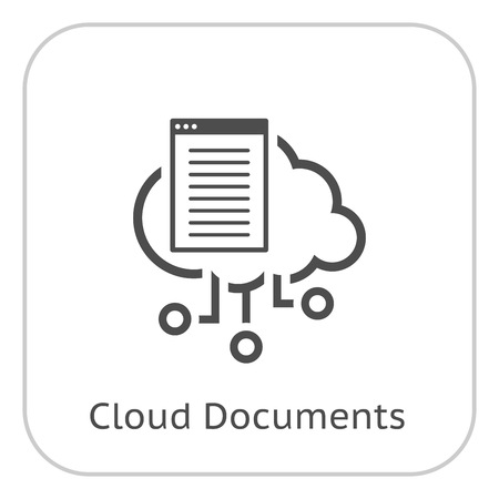 Simple Cloud Documents Vector Icon