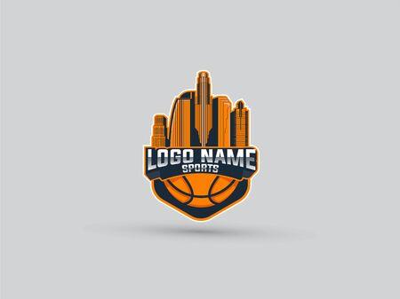 sport logo basketball los angeles emblem
