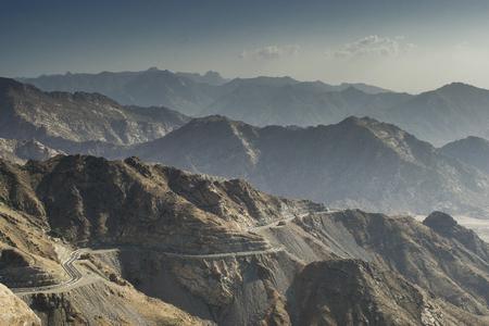 RoadMountain pass, dangerous el hada road in Taif, Saudi Arabia Stock Photo