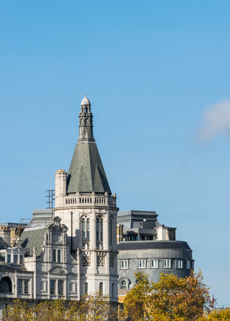 LONDON, UK - October 17th, 2017: The Royal Horseguards originally built in 1884 in style of a French cheteau as the home of the National Liberal Club.Designed by Alfred Waterhouse Editorial