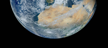 North Africa from space. Stock Photo