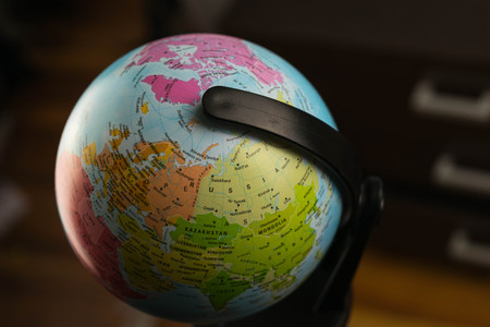 Earth globe map with focus on asia russia canada north pole fotos mapa del globo de la tierra con foco en asia rusia canad polo gumiabroncs Choice Image