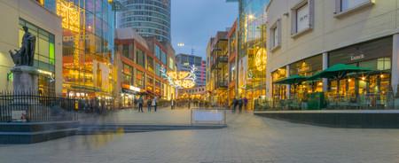 Birminghamm, UK - October 3rd, 2017 : Blurred motion during city centre christmas celebrations.