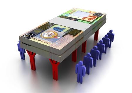 3D People Carring Geld Kuwait