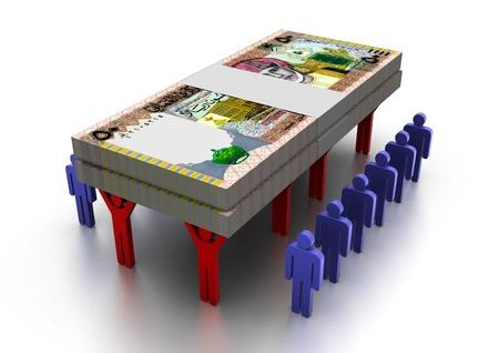 3D People Carring Geld Oman