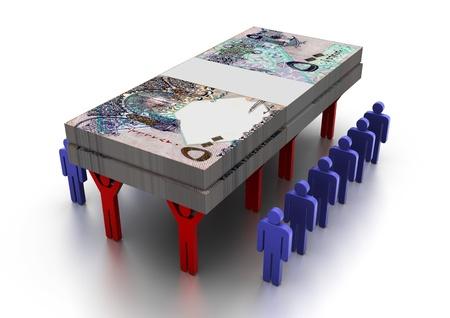 3D People Carring Geld Qatar