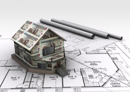 Money House Eygpt Standard-Bild