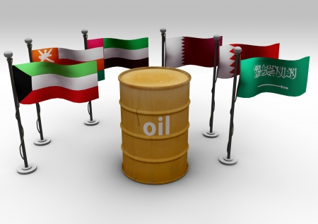 Oil Barrel and Flags GCC photo