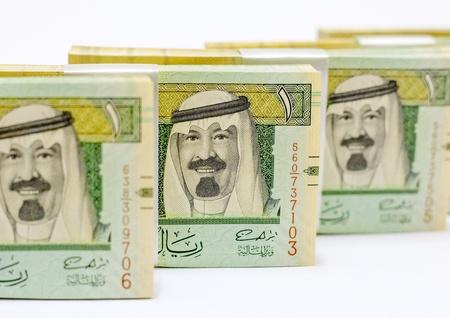 arabic currency: Piles of money Saudi Arabia