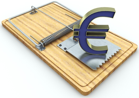 currency on a mousetrap Stock Photo - 17065487