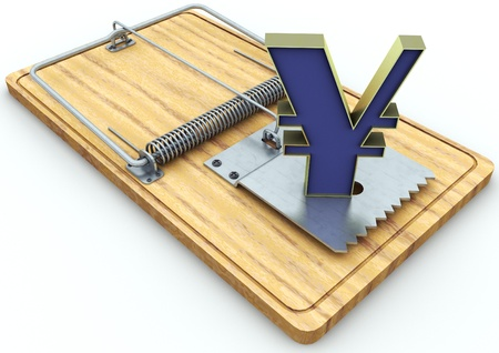 currency on a mousetrap  Stock Photo - 17065486