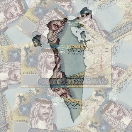 gcc: Map with Money in the Background