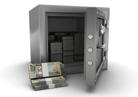 bahrain money: 3D safe and Bahrain money
