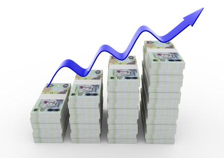 emirates: 3D United Arab Emirates Money growth