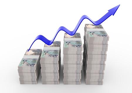 qatar: 3D Qatar Money growth