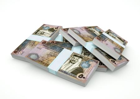 Stack of Jordan Money isolated on white background