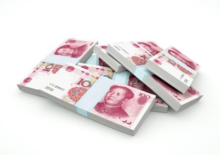 bejing: Stack of China Money isolated on white background