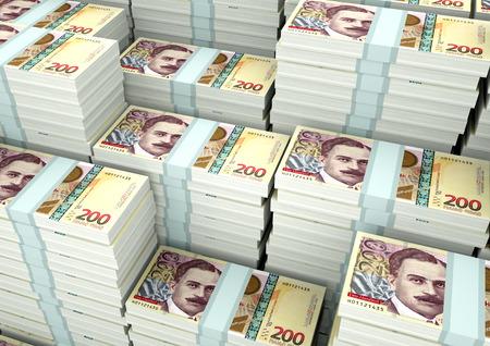 Piles of 3D rendering / 3D Illustration Georgia money