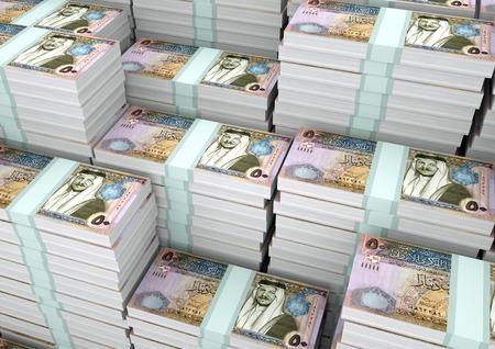 Piles of 3D rendering  3D Illustration Jordan money
