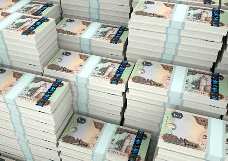 Stapel von 3D-Rendering / 3D Illustration Vereinigte Arabische Emirate Geld Standard-Bild - 89365495