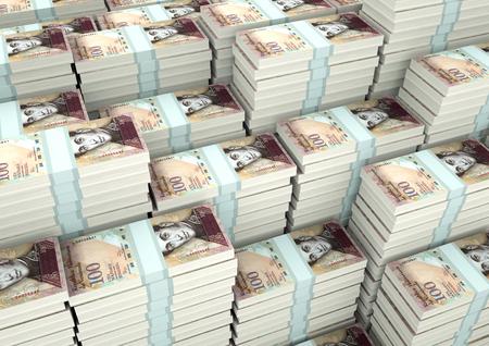 Piles of 3D rendering  3D Illustration Venezuela money
