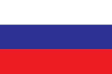 Russia flag Vectores