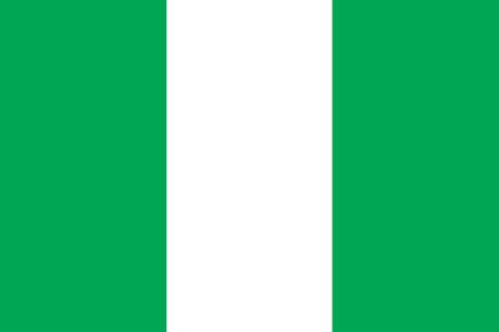 ナイジェリアの国旗  イラスト・ベクター素材