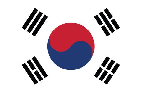South Korea Flag 向量圖像