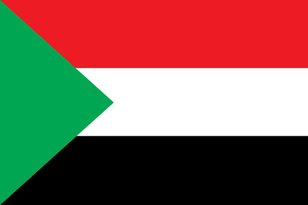 sudan: Flag of South Sudan Illustration