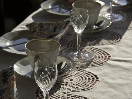 fork glasses: Jars Stock Photo