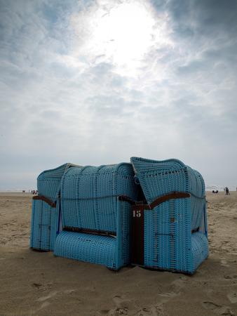 cabane plage: beach hut Banque d'images
