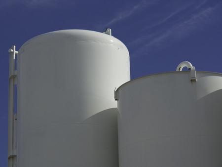 esbjerg: oil tank Stock Photo