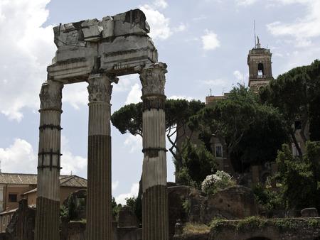 forum: Roman Forum Stock Photo