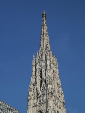 steeples: Church in Vienna Stock Photo