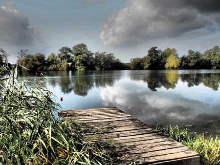 lakeside: lakeside Stock Photo