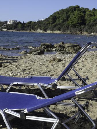 sunbeds: sunbeds Stock Photo