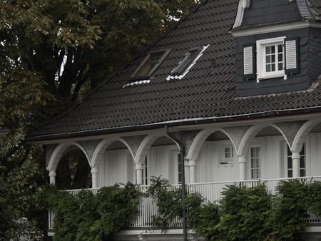 gable house: villa Stock Photo