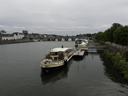 maas: boats on river Editorial