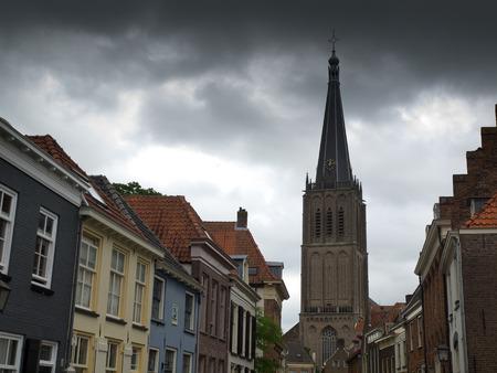 lemmer: Church Lemmer Stock Photo