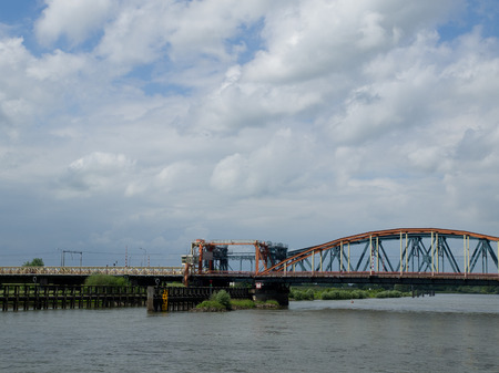 ijssel: bridge Stock Photo