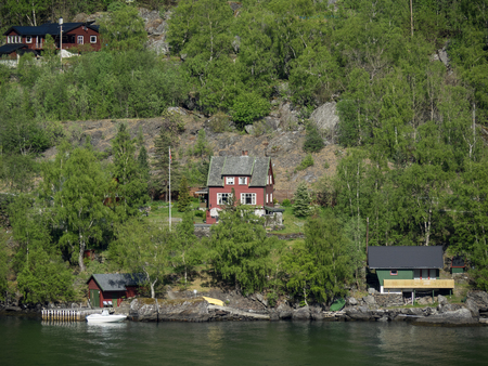 fiord: house at the fiord