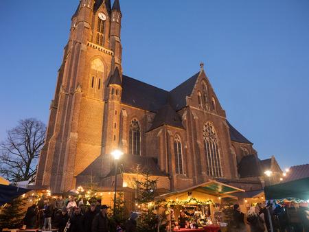 christmas market: christmas market in Weseke Editorial