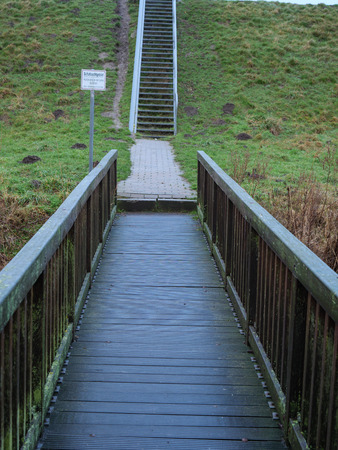 stairs on the dike