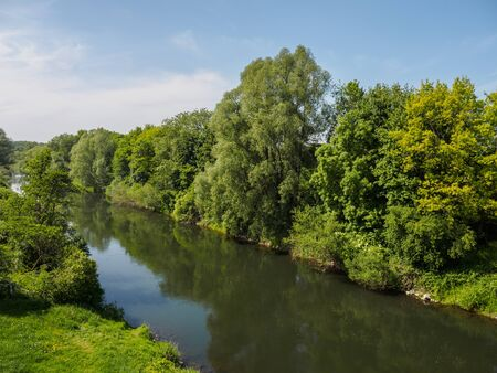 The german river lip view background.