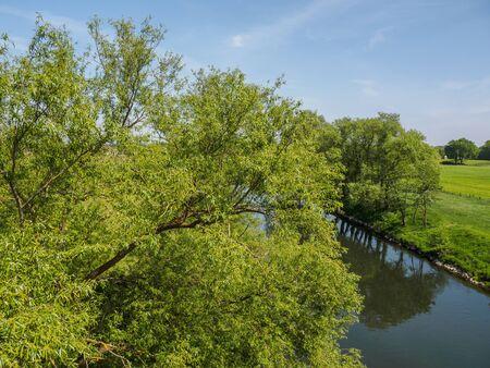 The little river Lippe in Germany Standard-Bild