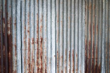 siderurgia: la cosecha de fondo ondulado revestimiento de hierro Foto de archivo