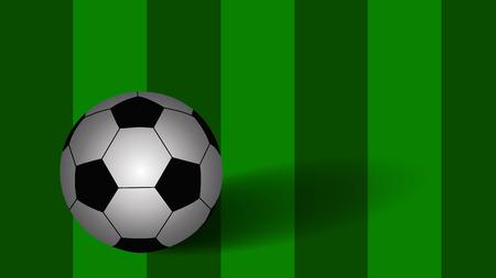 socca: Soccer ball on green background, vector eps10 Illustration