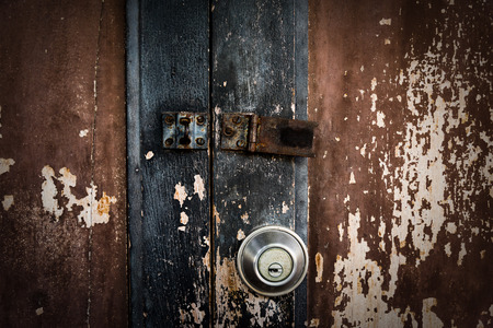 grungy: grungy wooden door texture background, horror concept Stock Photo